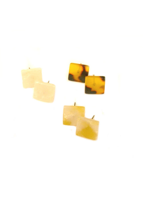 Mini Square Resin Studs