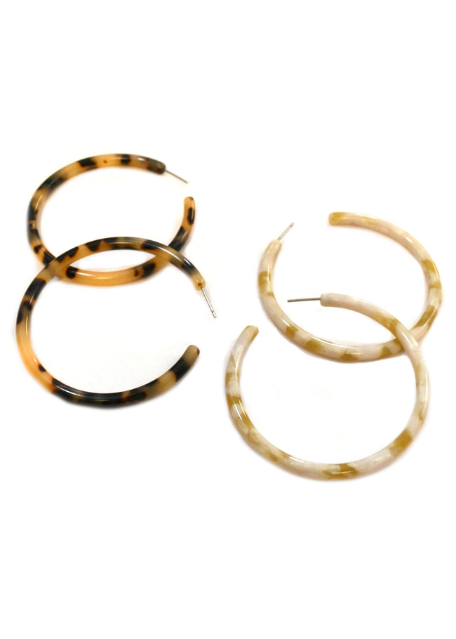 Claire⎜Resin Hoops