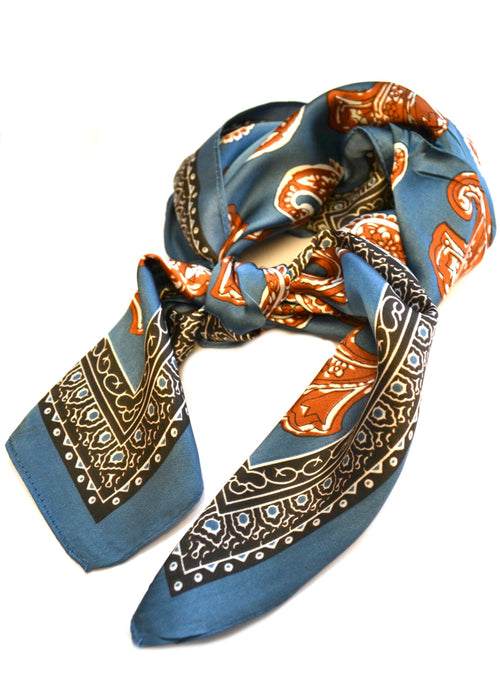 SALE Paisley Silk Neck Scarves