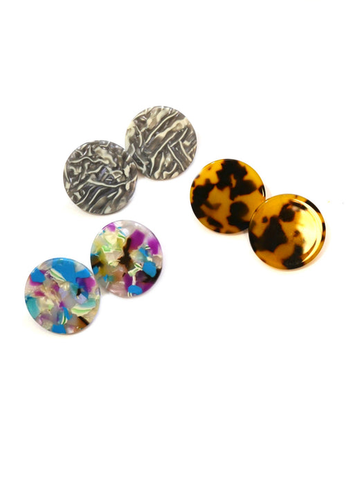 SALE Large Circle Resin Studs