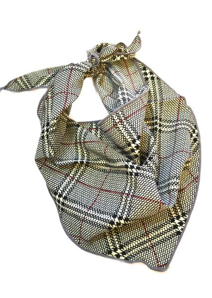 Plaid Neck Scarves