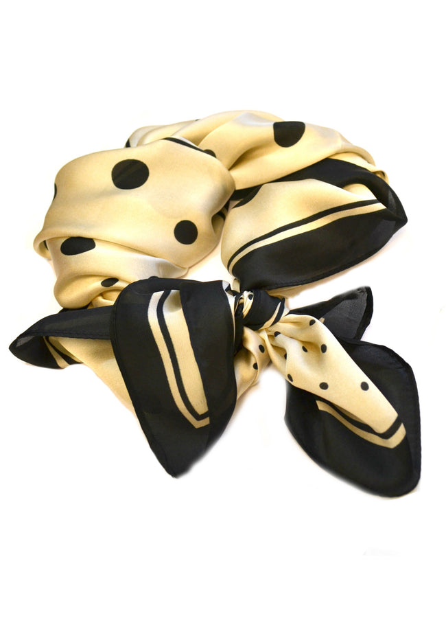 SALE Silk Polka Dot Neck Scarf
