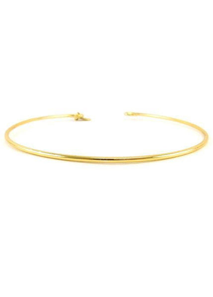 SALE Gold Choker with Hoops