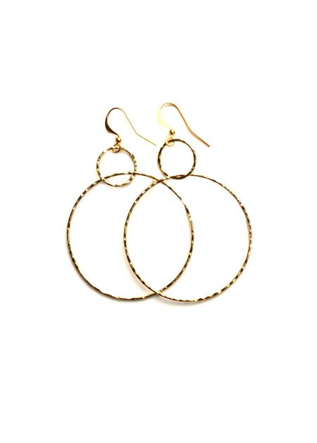 Thin Matte Hollow Hoops