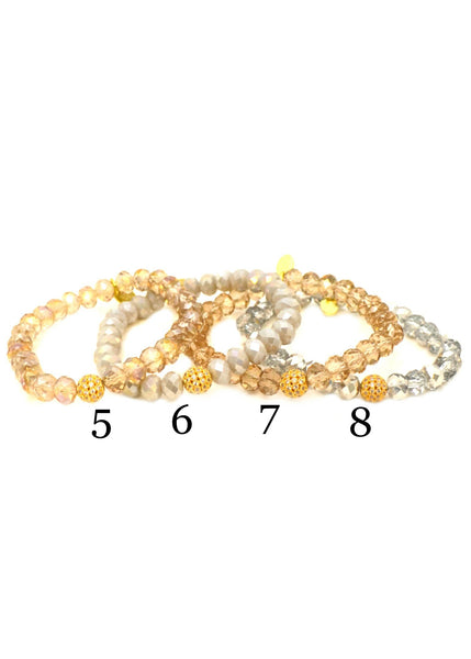 Pave Glass⎜Gold
