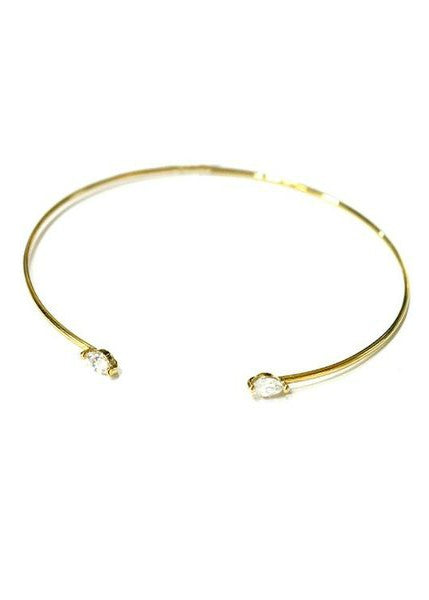 Gold Star & Moon Bangle