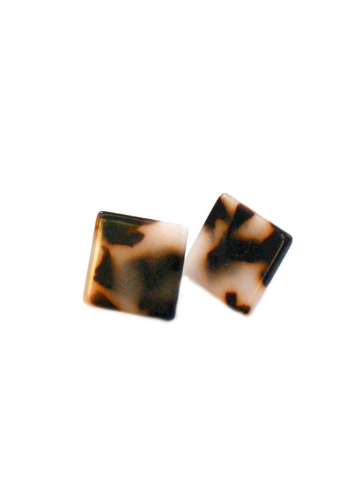 Resin Square Studs