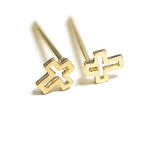 Tiny Open Cross Stud