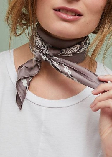 SALE Silk Bandana Neck Scarf