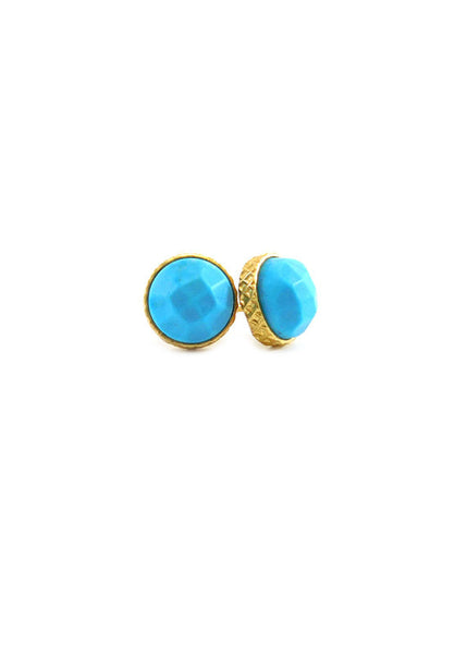 SALE Small Circle Studs (Turquoise)