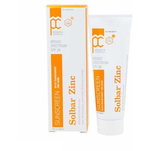 Person Covey Solbar Zinc Broad Spectrum SPF 38 - askderm