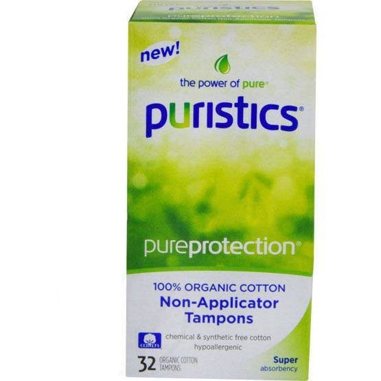 Puristics Super Tampons - Non-Applicator - 100% Organic Cotton - askderm