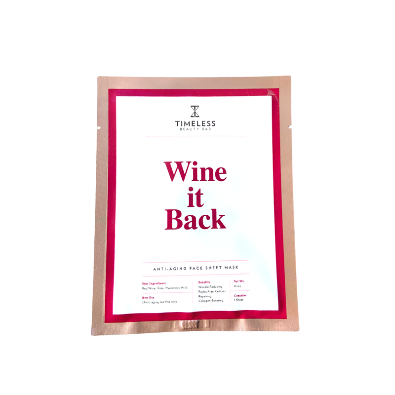 Timeless Beauty Bar Wine Down - Anti-Aging Sheet Mask - askderm