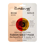 The Crème Shop 2-in-1 Fusion Essence Sheet Mask - 24k Gold + Rose Oil - askderm