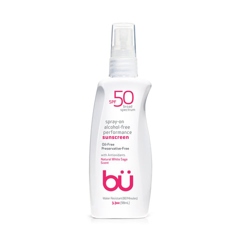 Bu SPF 50 Alcohol-Free/White Sage Scent Spray - askderm