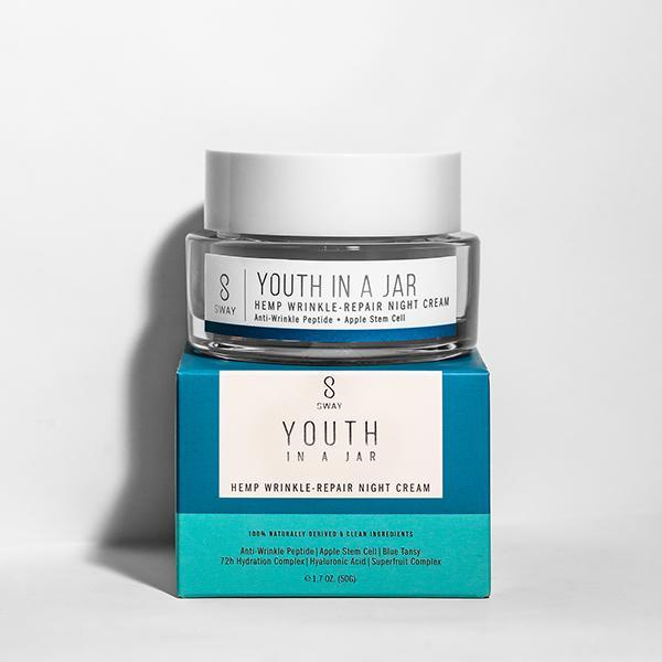 SWAY Youth in a Jar Hemp Wrinkle-Repair Night Cream with Blue Tansy - askderm