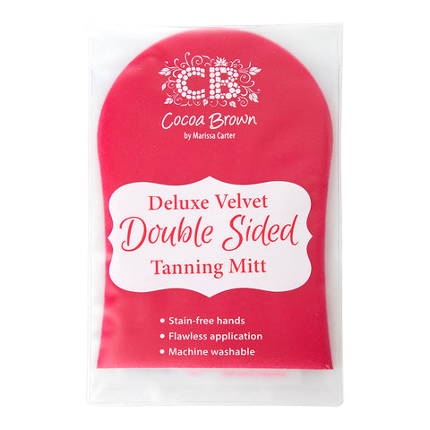 Cocoa Brown Deluxe Velvet Double Sided Tanning Mitt - askderm