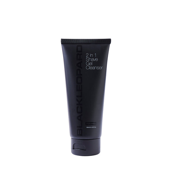 Black Leopard 2 in 1 Shave Gel Cleanser - askderm