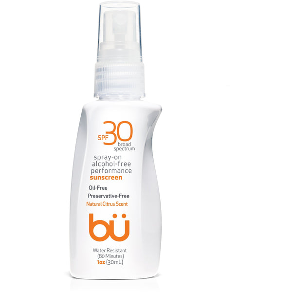 bu SPF 30 Alcohol-Free/Natural Citrus Scent Spray - askderm