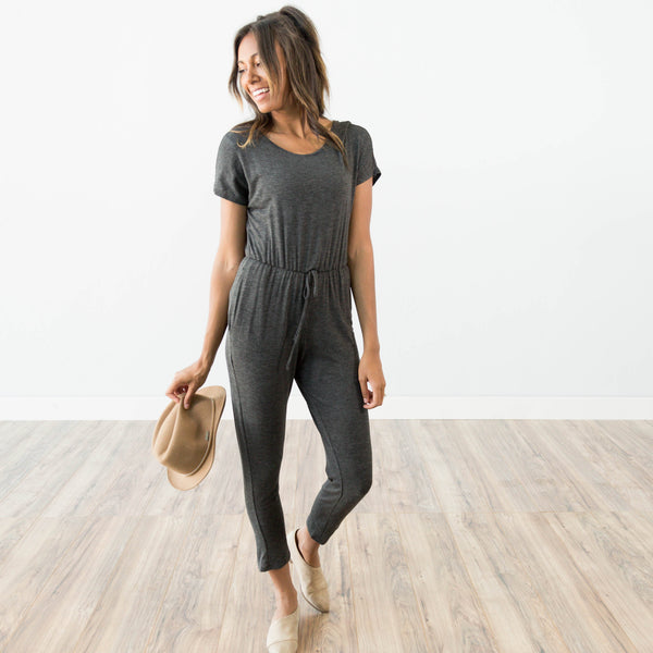 Khloe Jumpsuit in Charcoal