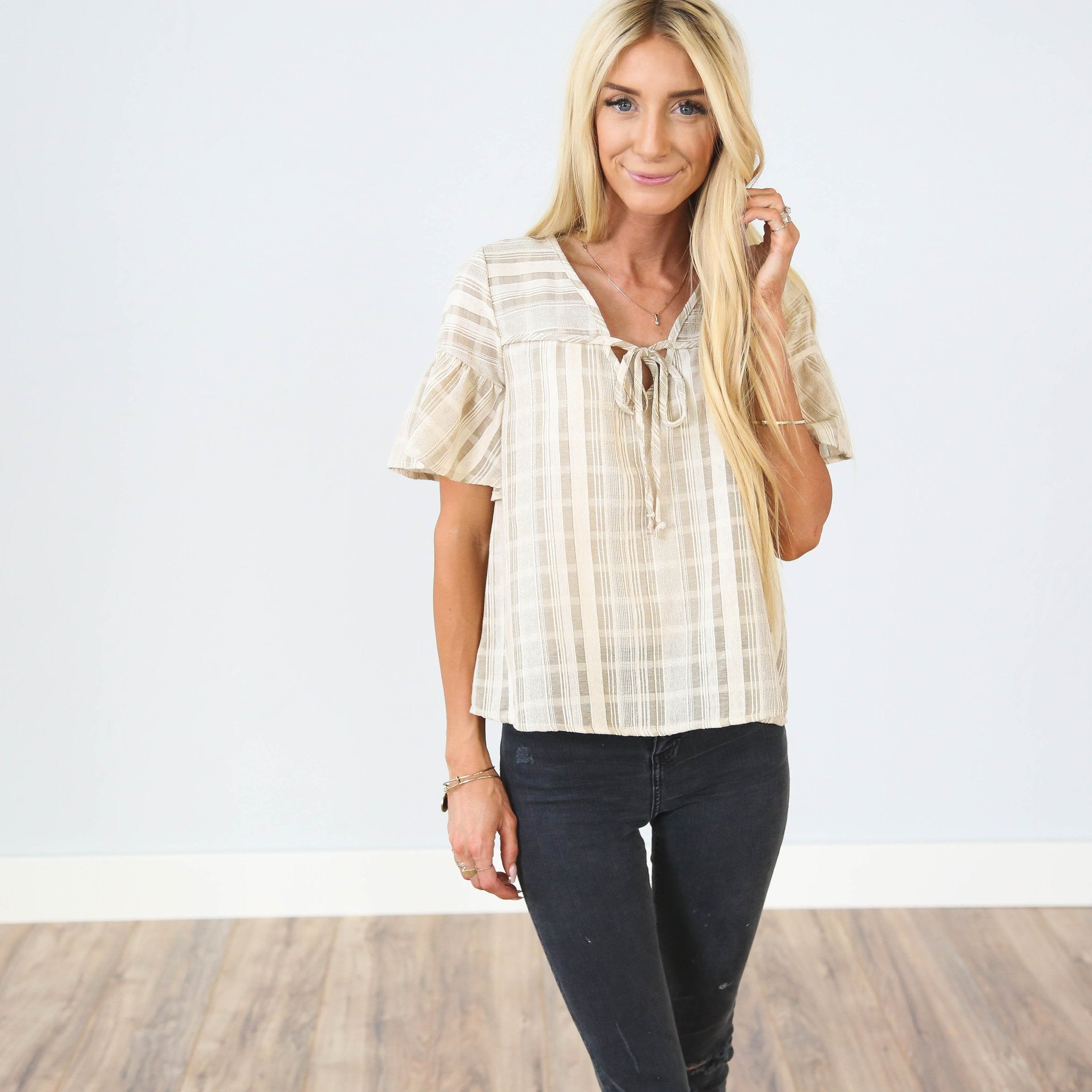 Meg Top In Taupe