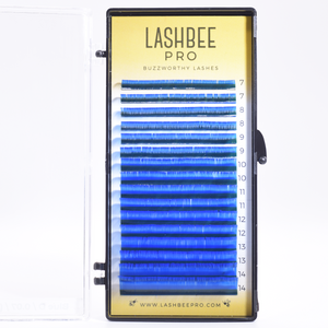 Mixed-Length Blue Lashes (Foil Back)