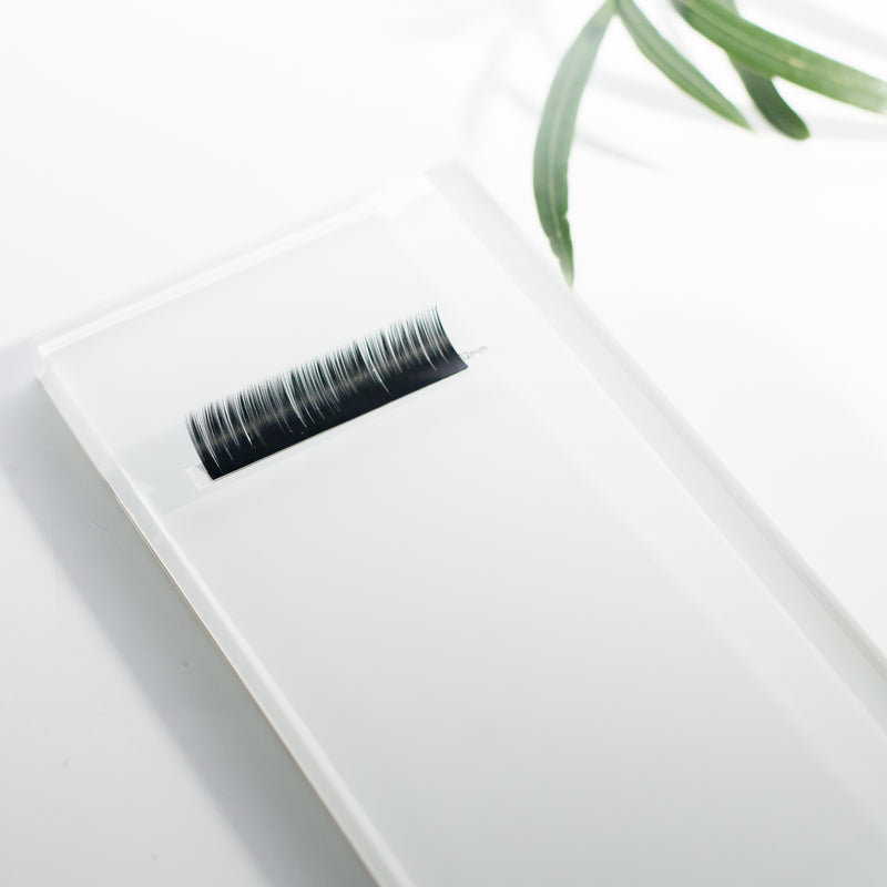 Glass tile for eyelash extension strips