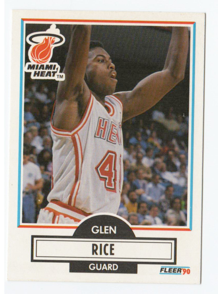Buy 1990 Fleer Glen Rice Rookie Card Miami Heat At Jm Collectibles For Only 100