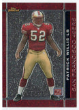 2007 Topps Finest Patrick Willis Rookie Card San Francisco 49ers - JM Collectibles