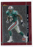 2007 Topps Finest Ted Ginn Jr Rookie Card Miami Dolphins - JM Collectibles