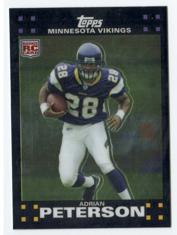 2010 Topps Chrome Adrian Peterson 2007 REPRINT Rookie Card Minnesota Vikings - JM Collectibles