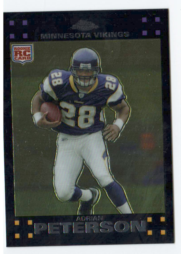 2007 Topps Chrome Adrian Peterson Rookie Card Minnesota Vikings - JM Collectibles