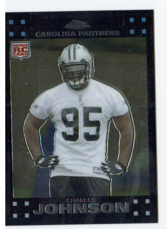 2007 Topps Chrome Charles Johnson Rookie Card Carolina Panthers - JM Collectibles