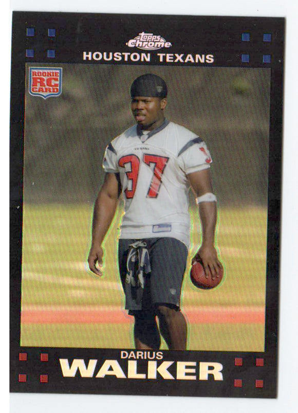 2007 Topps Chrome Darius Walker Refractor Rookie Card Houston Texans - JM Collectibles