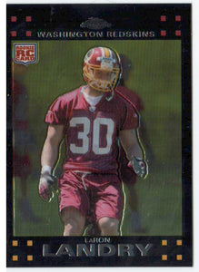 2007 Topps Chrome LeRon Landry Rookie Card Washington Redskins - JM Collectibles