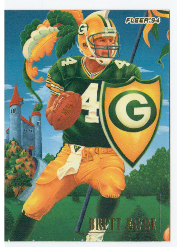 1994 Fleer Pro Vision Brett Favre Green Bay Packers - JM Collectibles