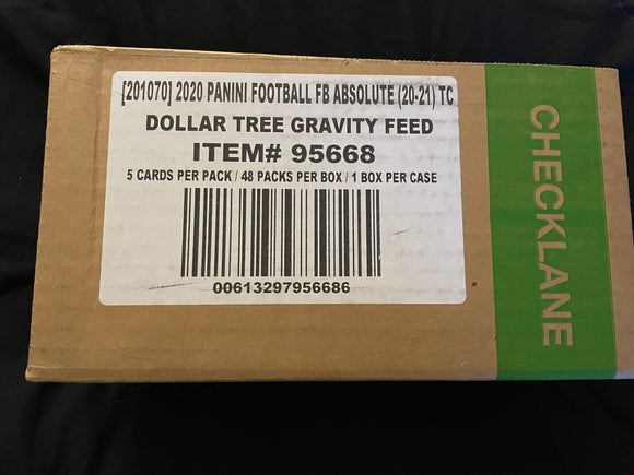 2020 Panini Absolute Football Dollar Tree Gravity Feed Case