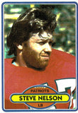 1980 Topps Steve Nelson New England Patriots - JM Collectibles