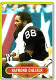 1980 Topps Raymond Chester Oakland Raiders - JM Collectibles