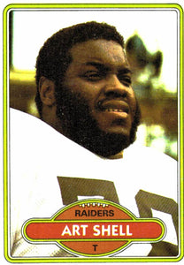 1980 Topps Art Shell Oakland Raiders - JM Collectibles
