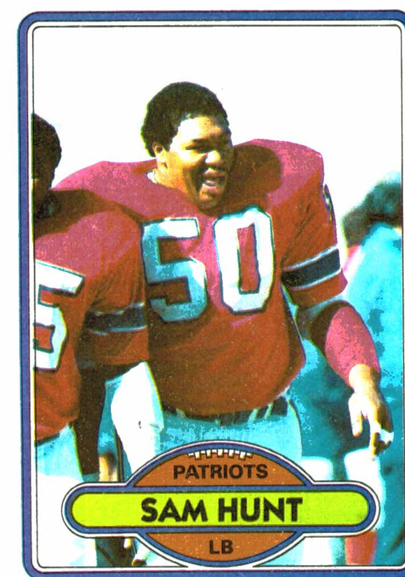 1980 Topps Sam Hunt New England Patriots - JM Collectibles