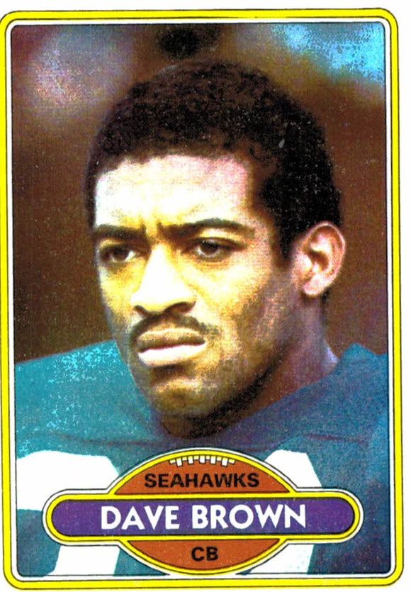 1980 Topps Dave Brown Seattle Seahawks - JM Collectibles