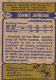 1979 Topps Dennis Johnson Buffalo Bills - JM Collectibles