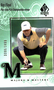 2002 SP Authentic Ray Floyd Majors & Masters Golf Card /3499 - JM Collectibles