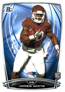 2014 Bowman James White Rookie Card New England Patriots - JM Collectibles