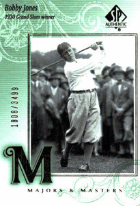 2002 SP Authentic Bobby Jones Majors & Masters Golf Card /3499 - JM Collectibles