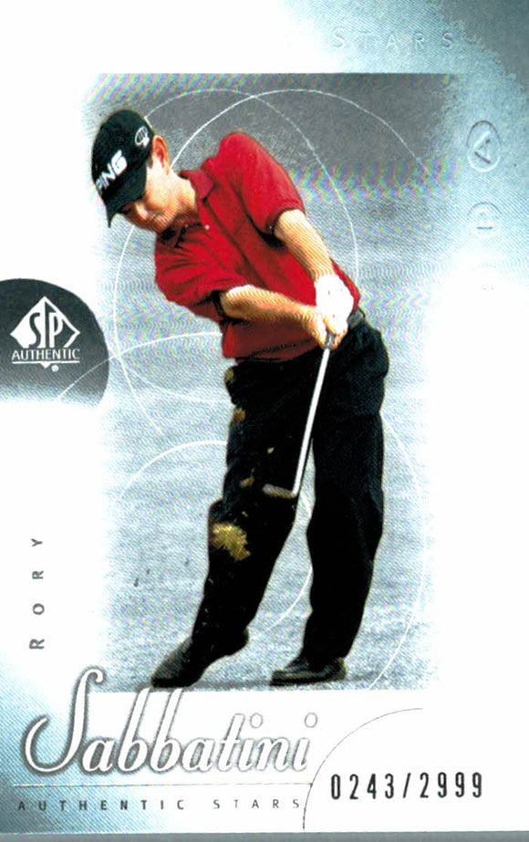 2001 SP Authentic Rory Sabbatini Golf Card /2999 - JM Collectibles
