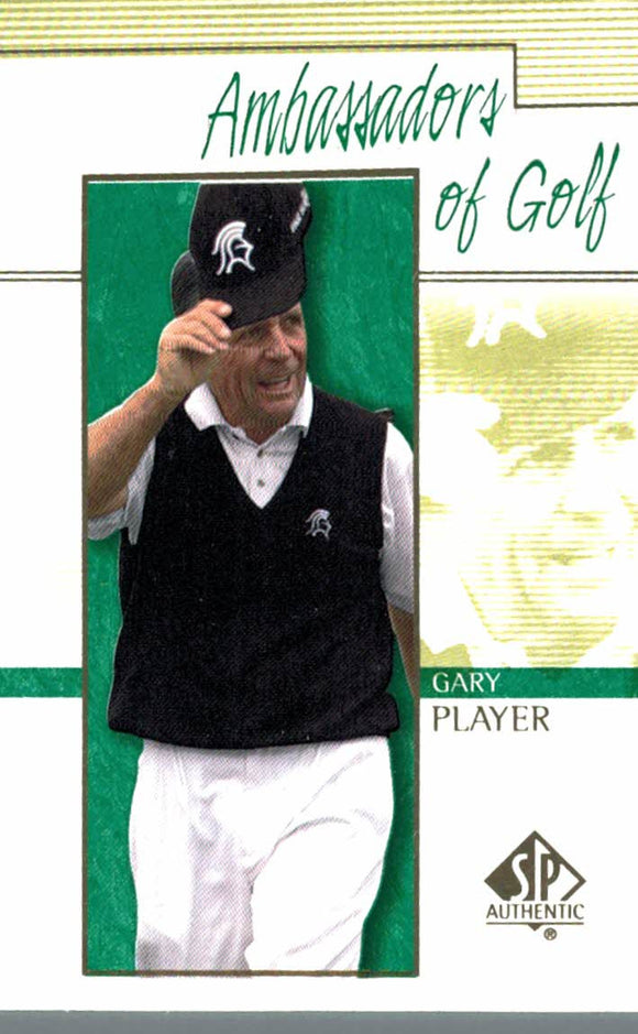 2001 Upper Deck Gary Player Ambassadors Of Golf - JM Collectibles