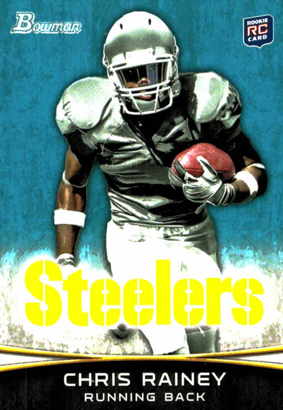 2012 Bowman Chris Rainey Rookie Card Pittsburgh Steelers - JM Collectibles