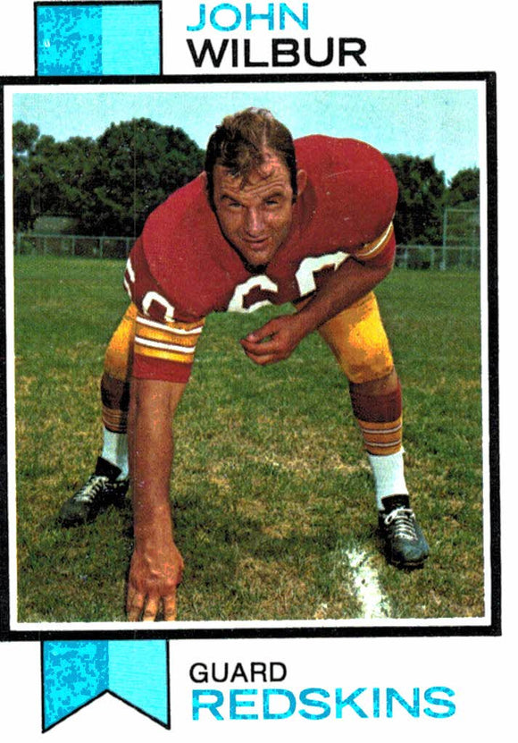 1973 Topps John Wilbur Washington Redskins - JM Collectibles